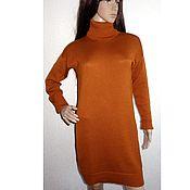 Одежда handmade. Livemaster - original item Dress cocoon oversized knitted Ginger. Handmade.