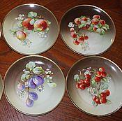 Винтаж handmade. Livemaster - original item Antique dessert plates