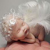 Куклы и игрушки ручной работы. Ярмарка Мастеров - ручная работа Спящий малыш-ангелочек. Handmade.
