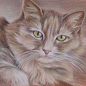 Картины и панно ручной работы. Ярмарка Мастеров - ручная работа Кошка Ириска. Handmade.