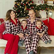Одежда handmade. Livemaster - original item Set of festive tansy suits for the whole family. Handmade.