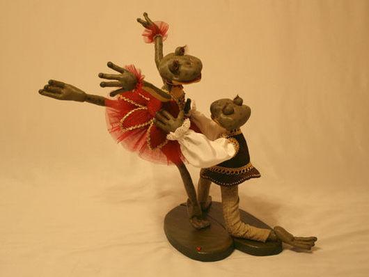 Игрушки животные, ручной работы. Ярмарка Мастеров - ручная работа. Купить Балет. Handmade. Авторская работа, грунтованный текстиль