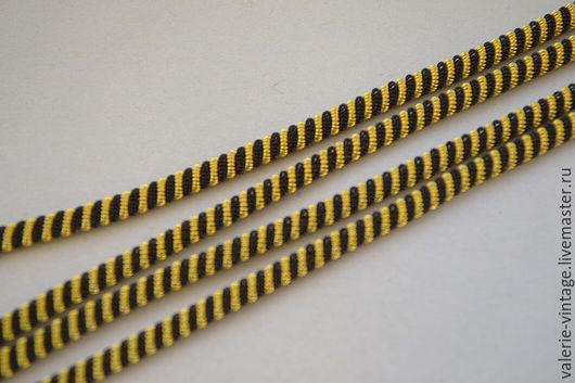 Для украшений ручной работы. Ярмарка Мастеров - ручная работа. Купить Канительный шнур цвет черный с золотом. Handmade. Канитель