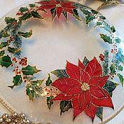 Посуда handmade. Livemaster - original item Dish for new year table setting Christmas wreath. Handmade.