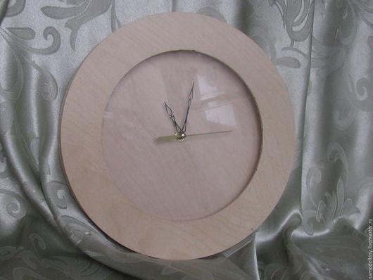 Декупаж и роспись ручной работы. Ярмарка Мастеров - ручная работа. Купить Часы настенные круглые со стеклом. Handmade. Бежевый
