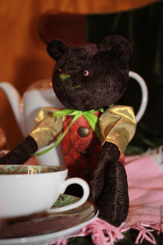 """Игрушки животные, ручной работы. Ярмарка Мастеров - ручная работа. Купить Мишка """"Tea Time"""". Handmade. Коричневый, медведь, парча"""