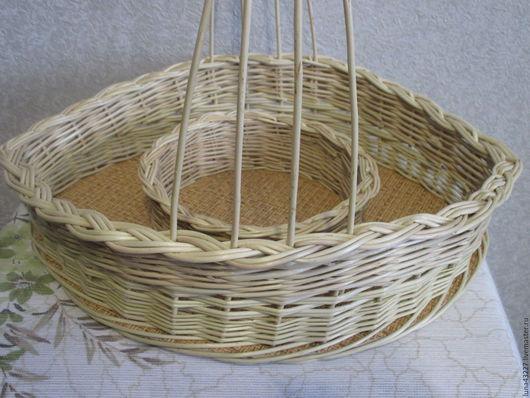 """Подарки на Пасху ручной работы. Ярмарка Мастеров - ручная работа. Купить Корзина """"Пасхальная"""" для кулича и яиц, плетеная из ивовой лозы. Handmade."""