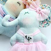 Мягкие игрушки ручной работы. Ярмарка Мастеров - ручная работа Милые слоники-девочки. Handmade.