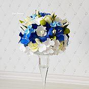 Цветы и флористика ручной работы. Ярмарка Мастеров - ручная работа Интерьерный букет в подставке-вазе. Handmade.