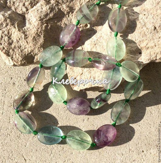 Для украшений ручной работы. Ярмарка Мастеров - ручная работа. Купить Флюорит 16 мм цветной овал бусины камни для украшений. Handmade.