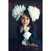 Украшения handmade. Livemaster - original item White bows for school are the biggest. Handmade.