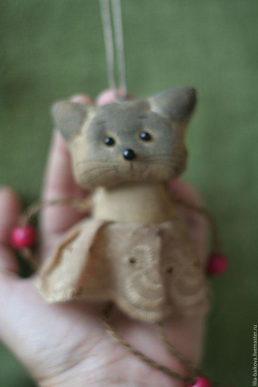 Ароматизированные куклы ручной работы. Ярмарка Мастеров - ручная работа. Купить чумазики кошечка. Handmade. Бежевый, подвеска, синтепон
