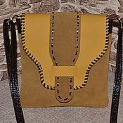 Сумки и аксессуары handmade. Livemaster - original item Leather bag Small bag tablet Model 607. Handmade.