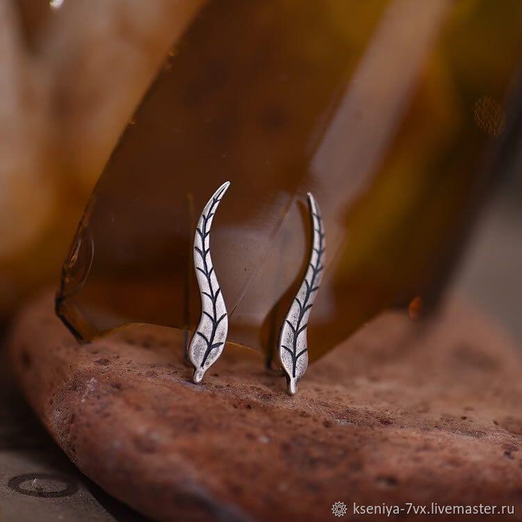 Оригинальные серебряные серьги зажимы, Серьги-зажимы, Владивосток,  Фото №1