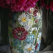 Для дома и интерьера ручной работы. Ярмарка Мастеров - ручная работа Ваза Полевые цветы. Handmade.