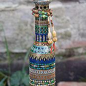 """Посуда ручной работы. Ярмарка Мастеров - ручная работа Декоративная бутылка """"Africana"""". Handmade."""