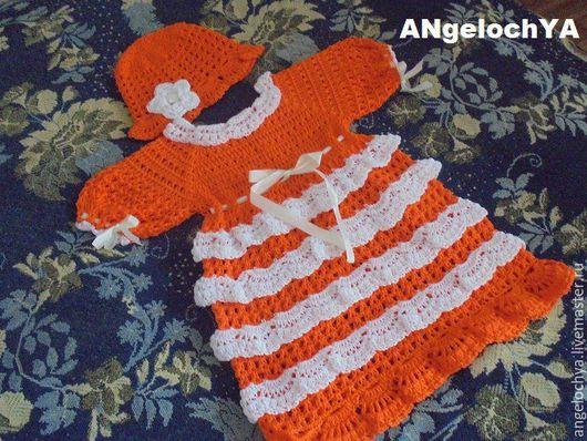 Одежда для девочек, ручной работы. Ярмарка Мастеров - ручная работа. Купить оранжевое настроение. Handmade. Рыжий, красивое платье, на лето