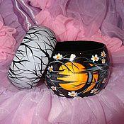 Украшения ручной работы. Ярмарка Мастеров - ручная работа Комплект браслетов Ночная сакура Японский стиль. Handmade.