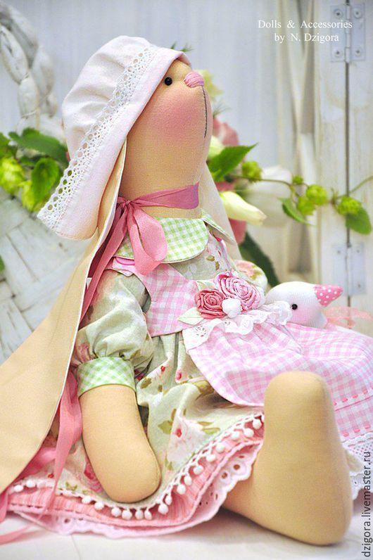 Игрушки животные, ручной работы. Ярмарка Мастеров - ручная работа. Купить Зайка текстильная Абелия. Handmade. Зайка, розовый