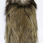 Материалы для творчества ручной работы. Ярмарка Мастеров - ручная работа Перья Coq de Leon Silver Rooster Saddle (51202042). Handmade.