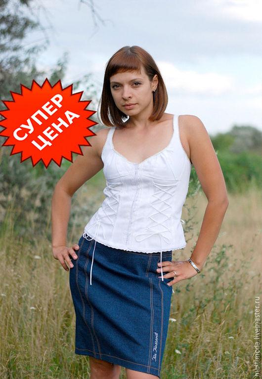 Юбки ручной работы. Ярмарка Мастеров - ручная работа. Купить Джинсовая юбка со стразами. Скидка 30%. Handmade.