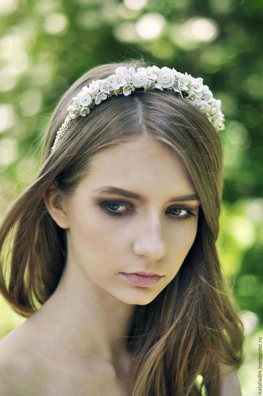 Свадебный ободок ` Fresh` .Изящный ,легкий .стильный аксессуар для волос.