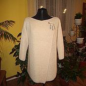 Одежда ручной работы. Ярмарка Мастеров - ручная работа Кардиган вязаный из полушерсти Комфорт. Handmade.