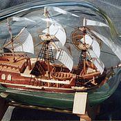 Сувениры и подарки ручной работы. Ярмарка Мастеров - ручная работа Корабль в бутылке 2. Handmade.