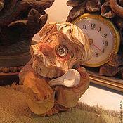 Мини фигурки и статуэтки ручной работы. Ярмарка Мастеров - ручная работа Мини фигурки и статуэтки: Домовой с ложкой- резьба по дереву. Handmade.