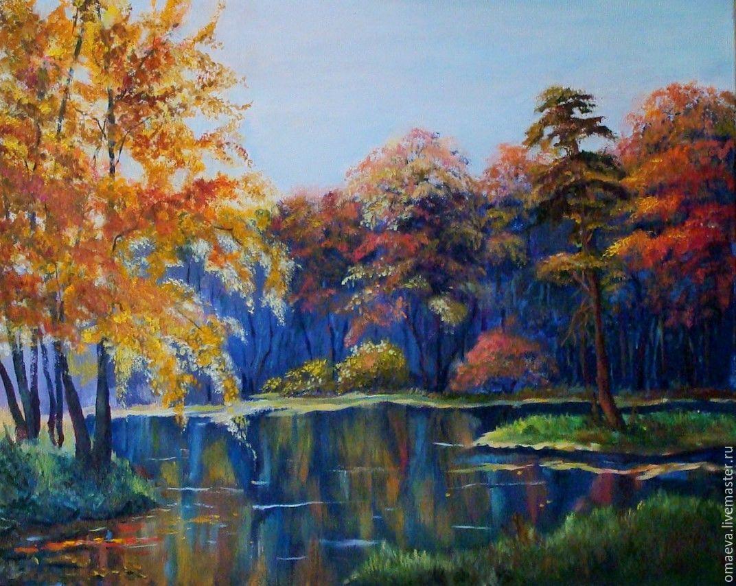 Painting,oil,'Autumn silence'autumn landscape, Pictures, Nizhny Novgorod,  Фото №1