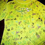 Одежда ручной работы. Ярмарка Мастеров - ручная работа Футболка Ящерка в джунглях. Handmade.