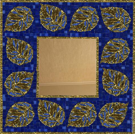 Зеркала ручной работы. Ярмарка Мастеров - ручная работа. Купить зеркало с мозаичной рамкой. Handmade. Зеркало, зеркало с мозаикой