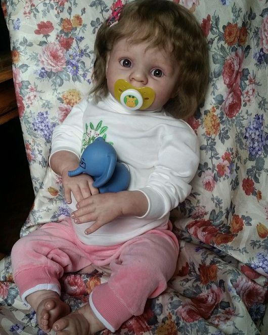 Куклы-младенцы и reborn ручной работы. Ярмарка Мастеров - ручная работа. Купить Задумчивая малышка Полина. Handmade. Реборн, трессы