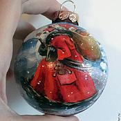 """Подарки к праздникам ручной работы. Ярмарка Мастеров - ручная работа Шар """"Дед Мороз"""". Handmade."""