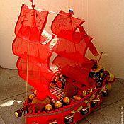 """Цветы и флористика ручной работы. Ярмарка Мастеров - ручная работа Кораблик """"Алые паруса"""". Handmade."""