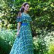 """Платья ручной работы. Платье """"Legend. Wildflowers"""". Anna Paromskaya. Ярмарка Мастеров. Сарафан, яркое платье, трикотаж хлопок"""