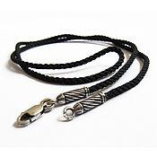 Русский стиль handmade. Livemaster - original item silk lace infinity with silver tips. Handmade.