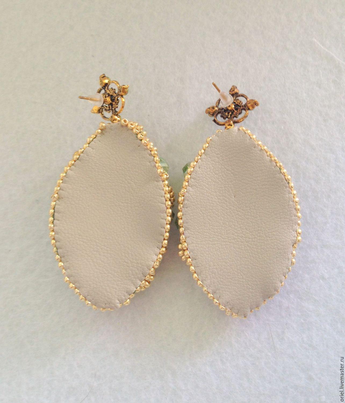 Handmade Bead,earrings green,beaded jewelry,Shibori Earrings – shop ...