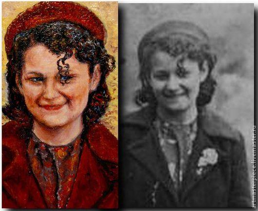 Люди, ручной работы. Ярмарка Мастеров - ручная работа. Купить Портрет. Бабушке на 90 лет. Холст, масло.. Handmade. Живопись