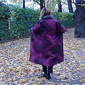 Одежда ручной работы. Ярмарка Мастеров - ручная работа Двустороннее безшовное пальто втехнике нунофелтинг ,в стиле пэчворг. Handmade.