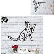 Маски ручной работы. Ярмарка Мастеров - ручная работа Кошка ,колибри и  кот в руке. Handmade.