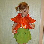 """Одежда ручной работы. Ярмарка Мастеров - ручная работа жилет-болеро """"Оранжевая радость"""". Handmade."""