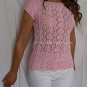 Одежда ручной работы. Ярмарка Мастеров - ручная работа нежно-розовый пуловер вязаный. Handmade.