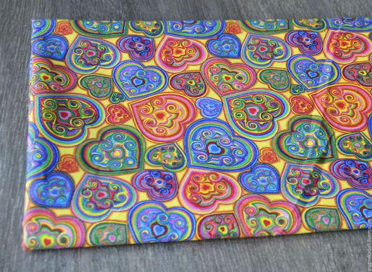 Шитье ручной работы. Ярмарка Мастеров - ручная работа. Купить Ткань Бязь Сердца. Handmade. Комбинированный, ткань, ткань для творчества