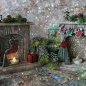 Сувениры и подарки handmade. Livemaster - original item Fireplace souvenir Christmas lights. Handmade.