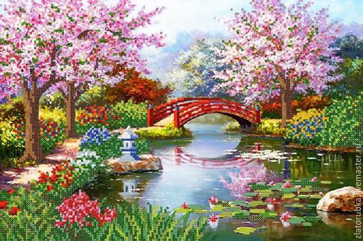 Цветущий сад.