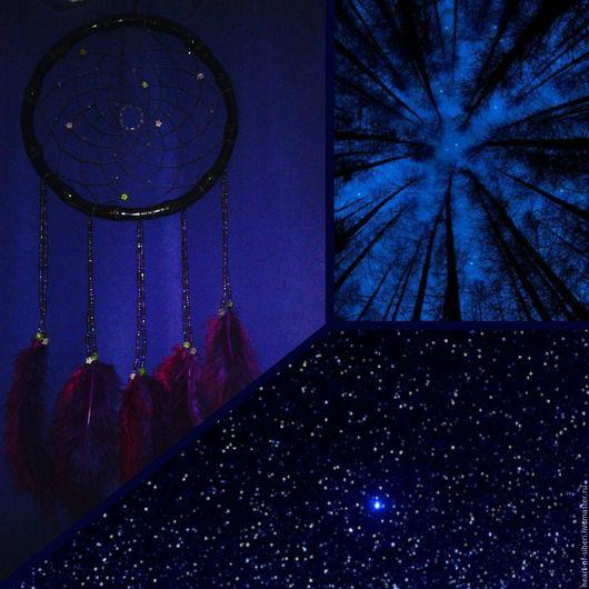 """Ловцы снов ручной работы. Ярмарка Мастеров - ручная работа. Купить """"Звезда полей"""" - красивый ловец снов, звёзды, ночь, поле, Вселенная. Handmade."""