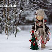 Куклы и игрушки ручной работы. Ярмарка Мастеров - ручная работа куколка Ermin & мишка Gronn. Handmade.