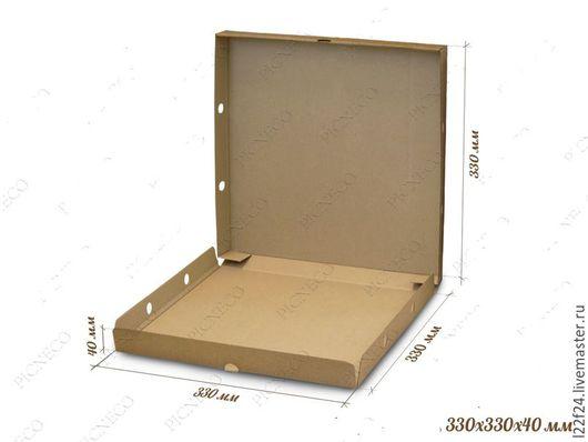Упаковка ручной работы. Ярмарка Мастеров - ручная работа. Купить Коробка большая плоская  НЕТ В НАЛИЧИИ. Handmade. Коричневый