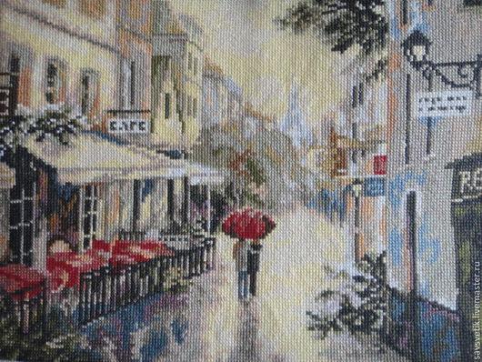 """Город ручной работы. Ярмарка Мастеров - ручная работа. Купить Картина """"Париж после дождя"""". Handmade. Картина"""